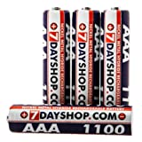 7dayshop Ultra High Capacity and Performance Rechargeable Ni-Mh Batteries - AAA Size (1100mAh) - Pack of 4by 7dayshop