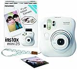 FUJIFILM インスタントカメラ チェキ instax mini 25 純正ハンドストラップ付き ホワイト INS MINI 25 WT N