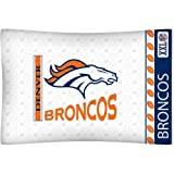 NFL Denver Broncos Micro Fiber Pillow Case Logo at Amazon.com