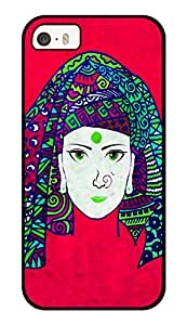"""Humor Gang Indian Tribal Woman Beautiful Printed Designer Mobile Back Cover For """"Apple Iphone 5-5s"""" (3D, Glossy, Premium Quality Snap On Case)"""