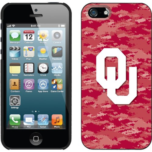 Best Price Oklahoma - Emblem on Camo design on a Black iPhone 5s / 5 Thinshield Snap-On Case by Coveroo