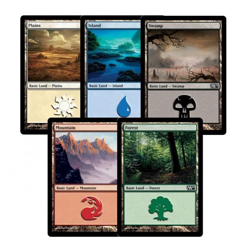 300 Assorted Magic: The Gathering MTG Basic Lands Cards
