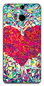 The Racoon Grip Love triangles hard plastic printed back case / cover for HTC One (M8)