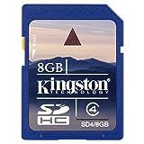 Kingston 8 GB Class 4 SDHC Flash Memory Card SD4/8GBET