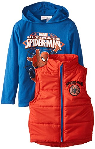 Marvel Little Boys' Spider-Man Vest and Hoodie Set