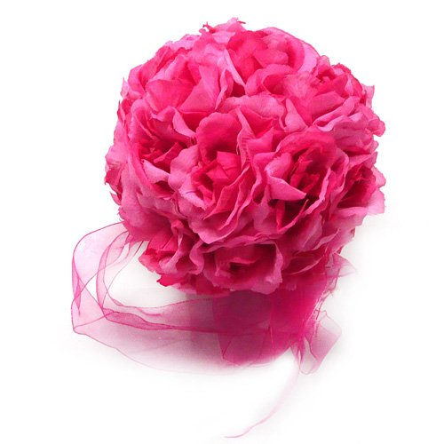 Flower Balls Dark Pink Wedding Decorations
