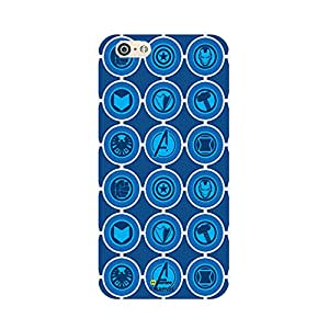 Hamee Marvel iPhone 6 / 6S Case Cover Avengers Icons Blue