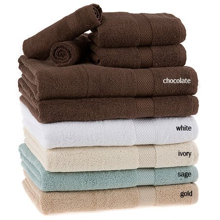 100% Pure Organic Cotton 6pc Towel Set, Chocolate