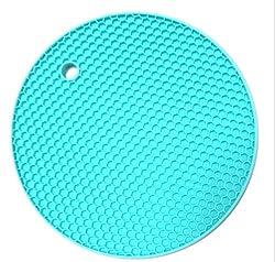 Colorful Multifunction Silicone Heat Resistant Pot Holder Mat Trivet Honeycomb M