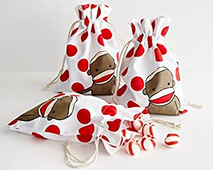 Funky Sock Monkey Party Favor Treat Bags at 'Sock Monkeys'