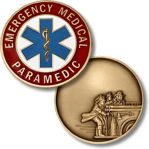 Paramedic - Fire Engravable Challenge Coin