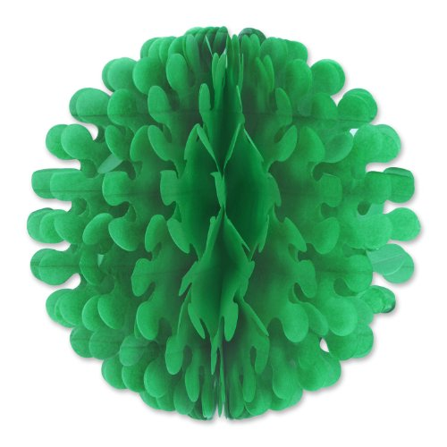 Beistle 1-Pack Tissue Flutter Ball, 19-Inch, Green