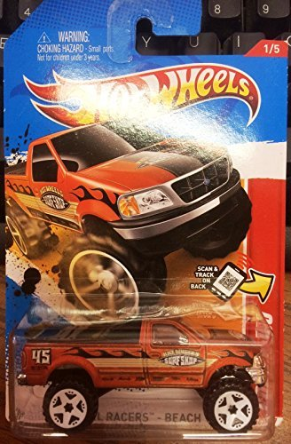Hot Wheels 2012-206 Thrill Racers - Beach 12 Ford F-150 Pickup BRONZE 1:64 Scale on Scan and Track Card