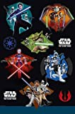 Clone Wars Tablecloth Pack of 36