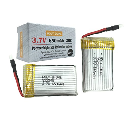 Holy Stone® 2 x 3.7V 650mAh 20C Lipo Batteries For Holy Stone M68 X5C X5 with Original Box