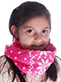 Simplicity Snowflake Patterned Scarf for Kids, Infinity Scarf in Knitted Acrylic