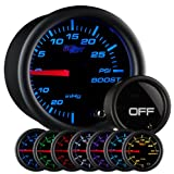 51JVkPKJMeL. SL160  GlowShift Tinted 7 Color 30 PSI Boost/Vacuum Gauge