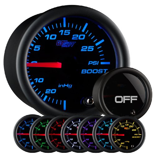 GlowShift Tinted 7 Color 30 PSI Boost/Vacuum Gauge (Mazdaspeed 3 compare prices)