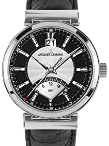 Jacques Lemans Men's 1-1697A Verona Classic Analog GMT Watch