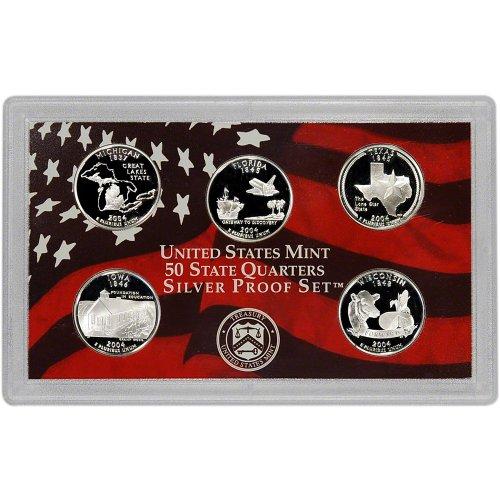 2004-S-US-Mint-Quarters-Silver-Proof-Set-OGP