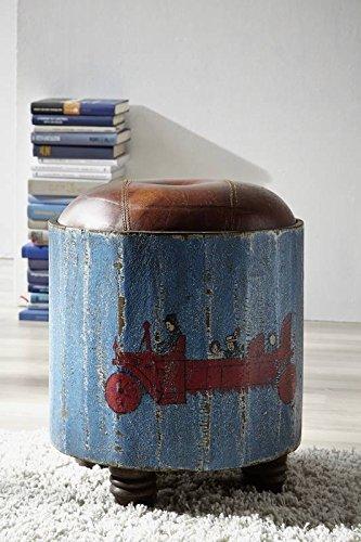 Mango maciza lacada multicolor Vintage muebles de madera maciza taburete de madera Mango de madera maciza muebles Painted #01