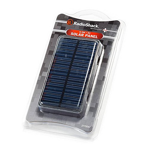 RadioShack 0.5W 0.5 Watt Solar Panel 9V 3.77 x 2.12 x 0.125 with 20cm Output Cable 2770047 DIY For Mini Solar Panel Module Solar Power System Solar Cell Battery Charger