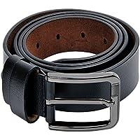 Kingstar Men's Classic Leather Dress Belt (Black)