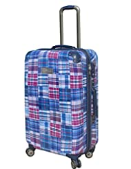 Tommy Hilfiger Palm Spring Polycarbonate Plaid Blue Luggage Set (TH/PLM08065)
