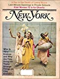 img - for New York Magazine, September 6 1971 (Vol. 4, No. 36) book / textbook / text book