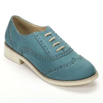 Amazon.com Sugar Blue Oxford Shoes - Women Shoes