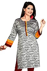 Karan Kurtis Womens Cotton Silk Aline Kurta (Kurtis-0310-Xl_Grey)