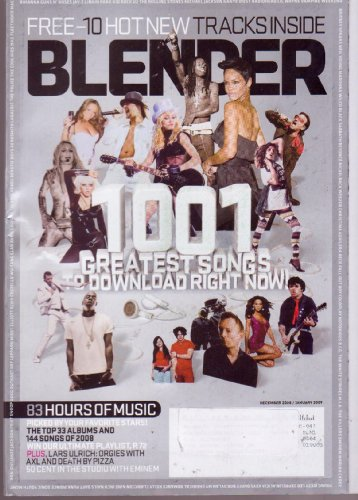 Dec/Jan 2009 *BLENDER* Music Magazine (Single Issue) Featuring, 1001 Greatest Songs to Download