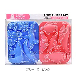 Silicon Animal Ice Tray Animal in the Arctic and Antarctic Blue × Pink