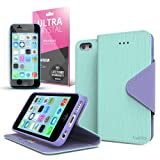 Cellto iPhone 5 / 5S Case Wallet Flip Type with HD Screen Protector [Slim Fit] [Cool Mint] Diary Cover /w ID Slot Top Quality with Premium PU Leather and TPU Dual Layer - EPI Style