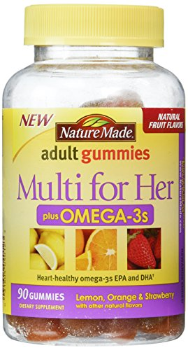 Nature Made Multi for Her Plus Omega-3 Adult Gummies, 90 Count (Womans Vitamins Nature Made compare prices)