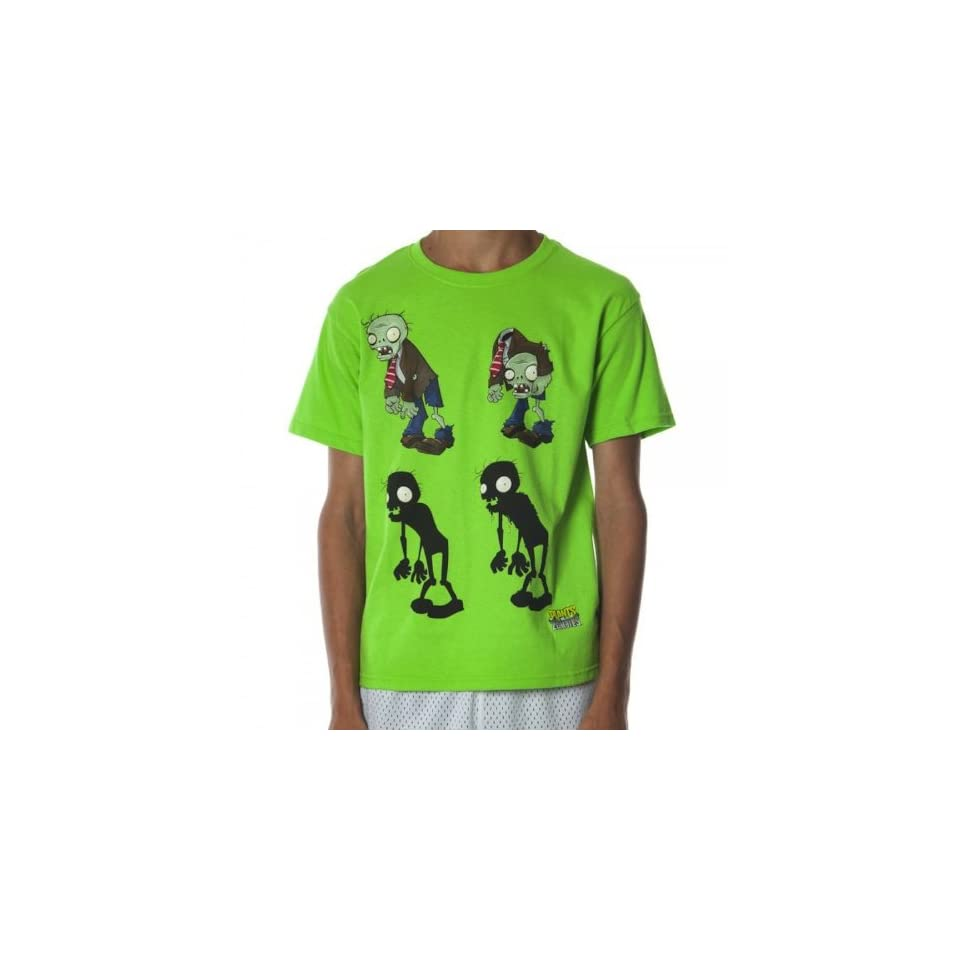 5b6c75d06f8 Plants Vs. Zombies Boys Lime Tee (Small) Clothing on PopScreen