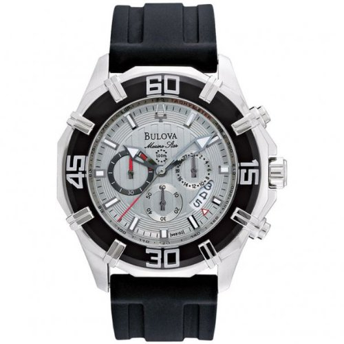 Bulova 96B152 Mens Chronograph Grey Black Watch