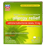 Rite Aid Cetirizine Hydrochloride Allergy Relief Tablets, 10 Mg 120 Ct.