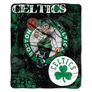 NBA Boston Celtics Dropdown Royal Plush Raschel Throw Blanket, 50x60-Inch by Northwest