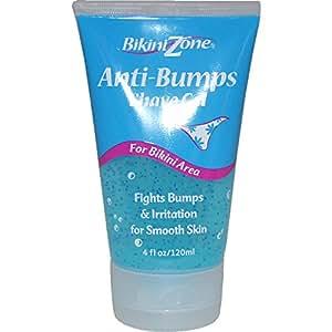 Bikini Zone Anti-Bumps Shave Gel, for Bikini Area, 4 fl oz (120 ml) Tubes, (Case of 6)