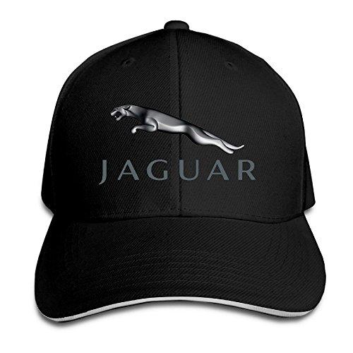 hittings-jaguar-logo-adjustable-snapback-peaked-cap-baseball-hats-black