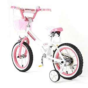 "BABY PRINCESS PINK GIRL'S BIKES IN SIZE 12"" 14"" 16"" & 18""+ Adjustable removable stabilisers+ front pink basket."