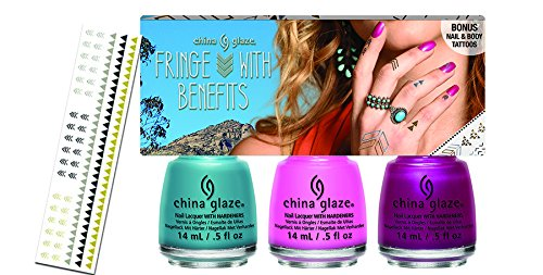 China Glaze Desert Escape Fringe with Benefits Nail Design Kit - 3-Piece