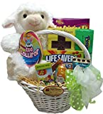 Delight Expressions Little Lamb Easter Gift Basket - Chocolate and Candy Basket for Kids