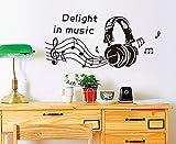 ufengke® Plaisir Dans la Musique Stickers Muraux, Salle de Séjour Chambre à Coucher Autocollants Amovibles