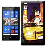 Yellow Taxi Cab in New York Times Square USA Hard Case Clip On Back Cover For Nokia Lumia 520