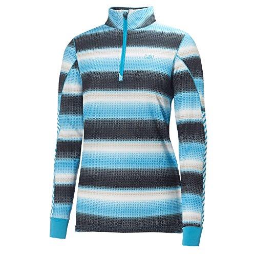 Helly Hansen 2015/16 Women's HH Active Flow Graphic 1/2 Zip Long Sleeve Shirt - 48464 (Princess Purple - L)