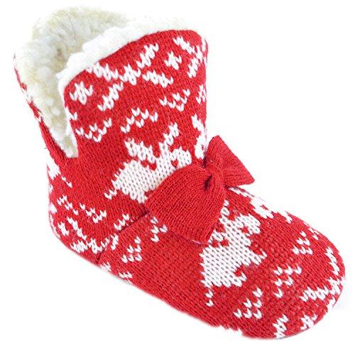 Rabbit Knit Print Bootie Slipper Boots