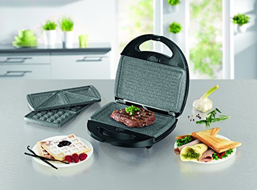 gourmetmaxx 00925 tischgrill waffeleisen sandwich maker in einem inkl 3 auswechselbarer. Black Bedroom Furniture Sets. Home Design Ideas