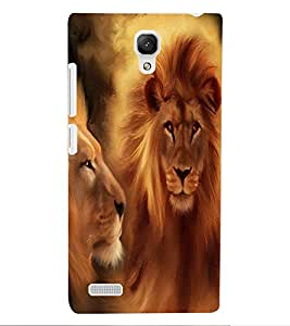 ColourCraft Lions Beautiful Painting Design Back Case Cover for XIAOMI REDMI NOTE